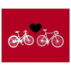 Hybrid-Home Limited Edition Print Bike Love - Red - Posters - Wall Art -  http://www.designpublic.com/hybrid-home-limited-edition-print-bike-love-red-34894