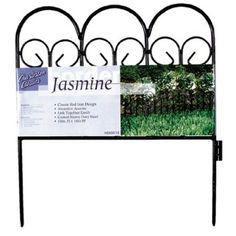 Amazon.com : Origin Point 060018 Jasmine Classic Decorative Steel Landscape Border Fence Section : Garden Edging : Patio, Lawn & Garden