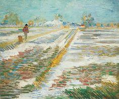 Vincent Van Gogh, Paesaggio con neve, 1888