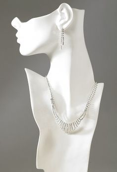 Jewelry - Chain Drop Rhinestone Necklace Earring Set from Camille La Vie and Group USA