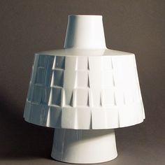 1965 ungewöhnliche Vase KPM Berlin Entwurf Gunilla Palmstierna-Weiss