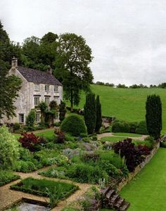200-year-old house, built from Cotswold limestone, sits in a valley in Gloucestershire on a site that has been occupied since the 15th century.