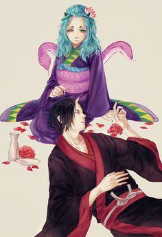 Hoozuki x Oko Anime/Manga Hoozuki no Reitetsu Lap pillow. Character Concept, Concept Art, Character Design, Cosplay, My Drawings, Fan Art, Cool Stuff, Illustration, Image