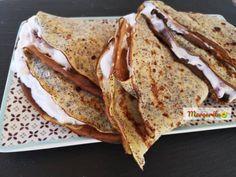 Mákos palacsinta meggyes-tejszínes krémmel Izu, Ethnic Recipes, Food, Meals, Yemek, Eten