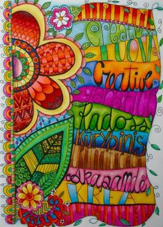 Words - Motivational - Quotes - Inspiration -colorful art lettering - Creativity