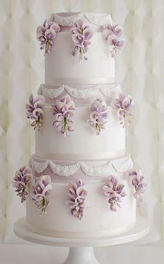 Featured Cake: Sugar Ruffles; Wedding cake idea. #weddingcakes