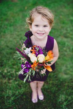 Rustic Purple and Orange Georgia Wedding via Brita Photography