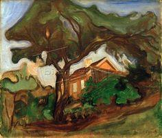 Edvard Munch: The apple tree (landscape)