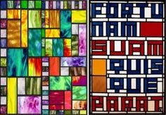 I adore this stained glass quilt. I think it would