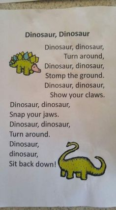 41 Ideas for music theme activities nursery rhymes 41 Ideas for music theme activities nursery rhyme Dinosaur Songs For Kids, Songs For Toddlers, Dinosaurs Preschool, Preschool Songs, Preschool Classroom, Preschool Learning, Kids Songs, In Kindergarten, Dinosaurs For Toddlers