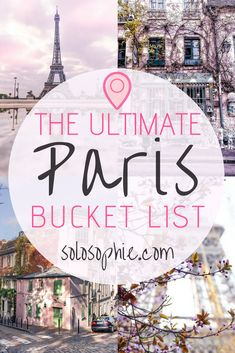 The ultimate Paris bucket list. Here are some of the very best things to do in the French capital, Paris, France. Best attractions to visit, day trips you must take, where to eat and what to buy!