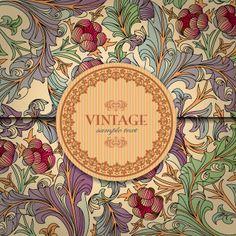 Vector gratis de Diseño floral vintage