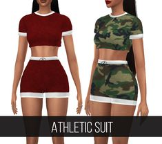 "fifthscreations: "" ATHLETIC SUIT • Top & Short category. • New mesh 100% by me. • 16 colors. • Has morphs. • HQ mod compatible. DOWNLOAD : [ON MY BLOG] or [PATREON] (@simsdom) Thank's you, if you use my cc or if you recolor one of my creation, tag..."