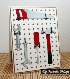Pegboard Cover-Up Die-namics, Tool Time Die-namics - Amy Rysavy #mftstamps
