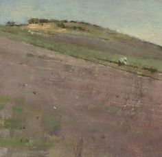 View Hillside By Theodore Robinson; oil on canvas; Access more artwork lots and estimated & realized auction prices on MutualArt. Theodore Robinson, American Impressionism, Landscape Paintings, Oil On Canvas, Artwork, Auction, Projects, Inspiration, Impressionism