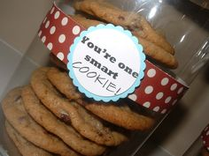 high school graduation party ideas | Simply Red: One Smart Cookie