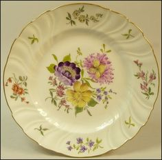 Antique Dresden Porcelain Hand Painted Cabinet Plate NR | eBay