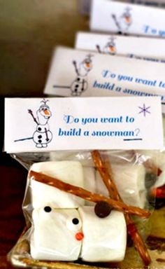 Olaf Party Favor ~ Tag: Do you want to build a snowman?