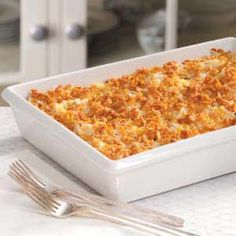 Shredded Potato Casserole Recipe..if this is with the cornflakes on top then this is the best kind of potatoes!! Have to try!!