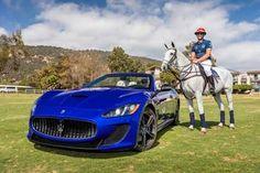Professional polo player and La Martina's brand ambassador Malcolm Borwick poses with Maserati GranTurismo Convertible. Courtesy photo. MASERATI AND LA MARTINA HOST ONE-OF-A-KIND EVENT http://sbseasons.com/2015/09/maserati-and-la-martina-host-one-of-a-kind-event-before-the-uspa-silver-cup/ #sbseasons #sb #santabarbara #SBSeasonsMagazine #Maserati #LaMartina #SBPolo&RacquetClub To subscribe visit sbseasons.com/subscribe.html