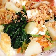Mixed Salad with peanut dressing. Indonesian food, called gado-gado.