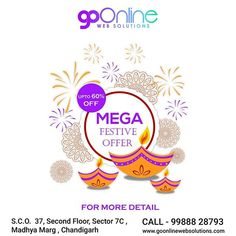 Low Prices-Big Discounts-More for less. Develop not just your website but also stay active on social media with us for exclusive offers up to 60% off festive discount. Get this amazing offer on all our services including Website Development Social Media Marketing SEO. Don't let this opportunity slip from your hands. Grab this stunning offer and go online with GoOnline Web Solutions. --------------------------------------------- Addons: SLL Certificate worth 1449 @ 449/- Bulk SMS @ 5p (MRP… Seo Marketing, Social Media Marketing, Digital Marketing, Go Online, For Less, Stay Active, Your Website, Web Development