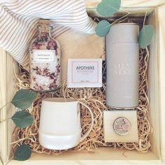 Relax Box for Her. Loved and Found. Curated Gift Box...LOVE this idea!!!