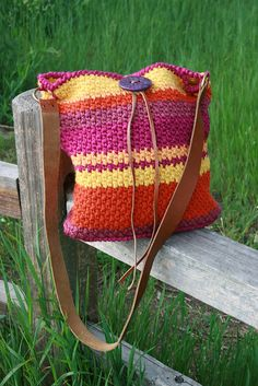 "Marly Bag  by Marlaina ""Marly"" Bird  Ravelry:This pattern is available for free. #afs collection"