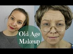 Helloooooo, here is an old age makeup tutorial! Remember that I am no makeup artist, I did this just because I enjoy trying out new things but I also hope th. Old Man Makeup, Eye Makeup, Makeup List, Kids Makeup, Movie Makeup, Makeup 101, Makeup Hacks, Grandma Costume, Old Lady Costume