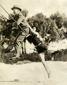 vintage everyday: Swinging on a Swing, c.1920s