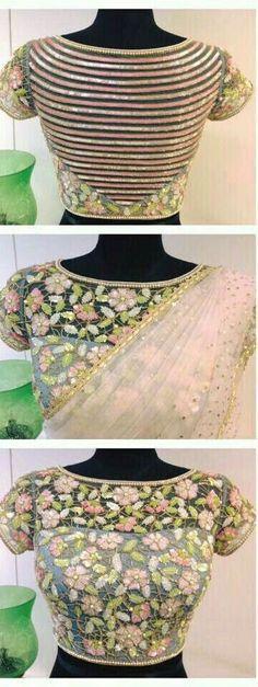 वैडिंग स्पेशल फैंसी बैक नेक ब्लाउज डिजाइन - FashionShala