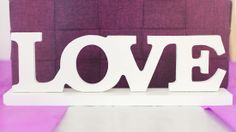 """Love"" Sign available at Diamond Excellence Weddings & Other Finer Events 