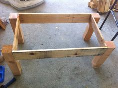 coffee table pallets | When we added these side aprons, we left enough room for our front and ...