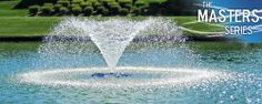 AquaMaster® Fountains - Masters Series  Lakewood This is the standard base model for the Masters Series®. It produces an ascending conical pattern with subtle aesthetics.  Basic Flow Pattern  #landscape #water #fountains #pond #beauty #architecture