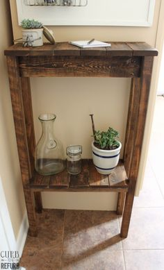 DIY pallet table - could use scrap wood too.