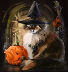Now anybody can be an artist with DIY diamond painting kit and create stunning masterpieces like our Halloween Cat Diamond Painting Kit. All kits includes everything you need to create a beautiful work of art achieving the subtle tones Retro Halloween, Fröhliches Halloween, Halloween Pictures, Halloween Costumes, Witch Cat, Photo Chat, Cat Wallpaper, Iphone Wallpaper, Halloween Wallpaper