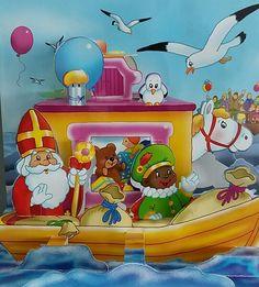 Sinterklaas en Zwarte Piet op de stoomboot