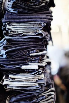 Repin if your jean stack is this high! How many pairs do you own?