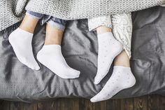 Here's a science-backed reason to go sock shopping! The post If You Don't Sleep with Socks on, Here's Why You Should Start Tonight appeared first on Reader's Digest. Dry Heels, Trouble Falling Asleep, Prevent Blisters, Bed Socks, People Sleeping, Cold Feet, Sock Shop, Hot Flashes, Menopause