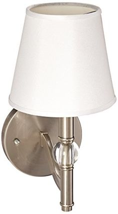 Golden Lighting 35001W PWCWH Sconce with Classic White Shades Pewter Finish ** To view further for this item, visit the image link.