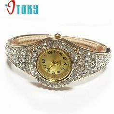 4.40$  Buy here - http://ali39s.shopchina.info/go.php?t=32562284850 - Excellent Quality Luxury Rhinestone Watch Filled Hollow Bracelet Quartz Watch Women Dress Watches Ladies Watch Female Clock Hour  #buyininternet