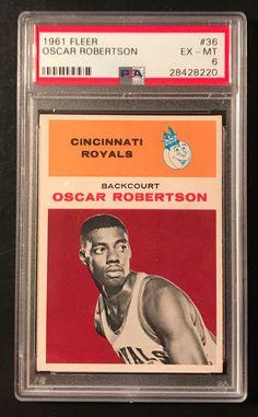 efd9258d35b Kenmore Collectibles - Today s Finds · 1961 Fleer  36 Oscar Robertson  Rookie PSA 6 EX-MT  cincinnatiroyals Basketball Cards