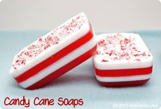 DIY Candy Cane Soaps at Sew Can Do