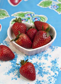 We LOVE strawberries :) FamilyFreshCooking.com ©Marla Meridith Photography