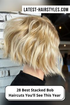 Check out these year's hottest stacked bob haircuts and hairstyles! We've put together the perfect collection that will go with any hair type, at any age! (Photo credit IG @headrushdesigns) Stacked Bob Hairstyles, Bob Haircuts, Latest Hairstyles, Age Photo, Graduated Bob, Stacked Bobs, Trending Haircuts, Hair Type, Photo Credit