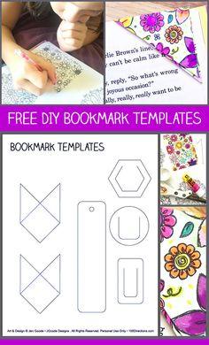 Free DIY Bookmark Templates