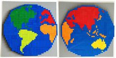 Create your very own Lego world map with this printable mosaic pattern. Fun as a geography or Earth Day project.