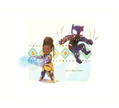 Shuri and Black Panther Marvel sister and brother