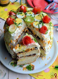 "Lavender and Lovage | ""Smorgastarta"" (Swedish Savoury Sandwich Gateau) for National Sandwich Day | http://www.lavenderandlovage.com"