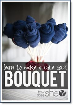 Sock Bouquet ♥ http://felting.craftgossip.com/2015/02/06/how-to-make-a-valentine-sock-bouquet-tutorial/
